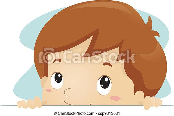 Peeking Kid - csp9313631