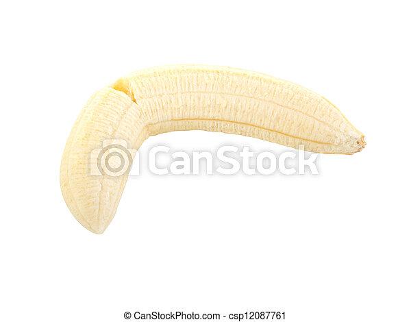 Peeled banana - csp12087761
