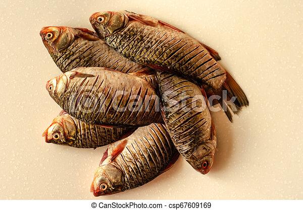 Peeled fish. Crucian carp - csp67609169