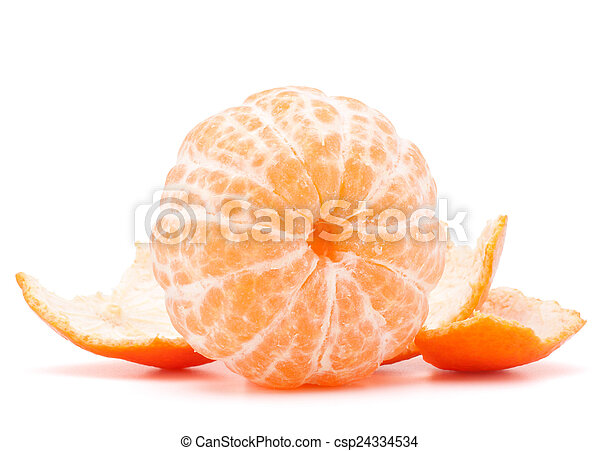 Peeled tangerine or mandarin fruit  - csp24334534