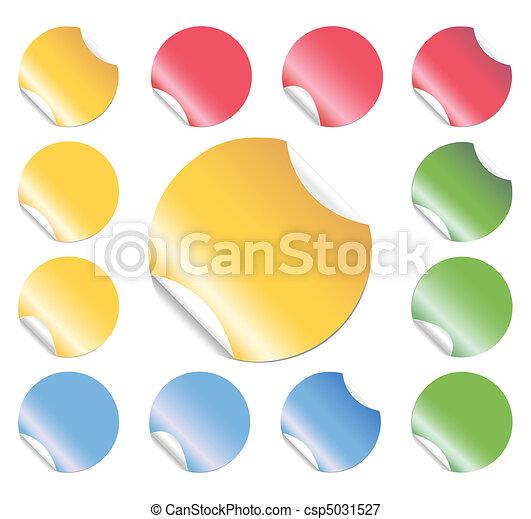 Peeling Round Stickers - csp5031527