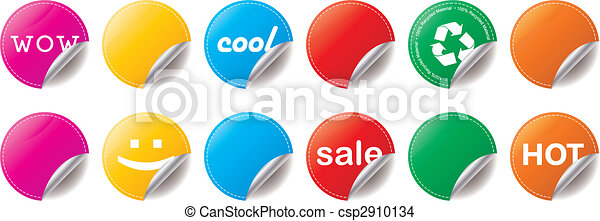 Peeling Stickers - csp2910134