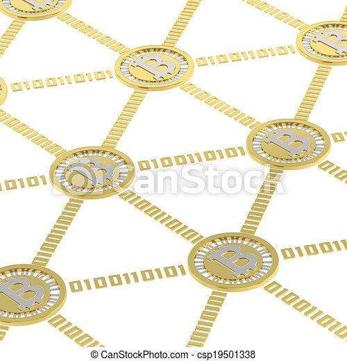 peer-to-peer, bitcoin, réseau - csp19501338