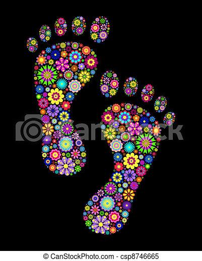 pegadas, coloridos - csp8746665