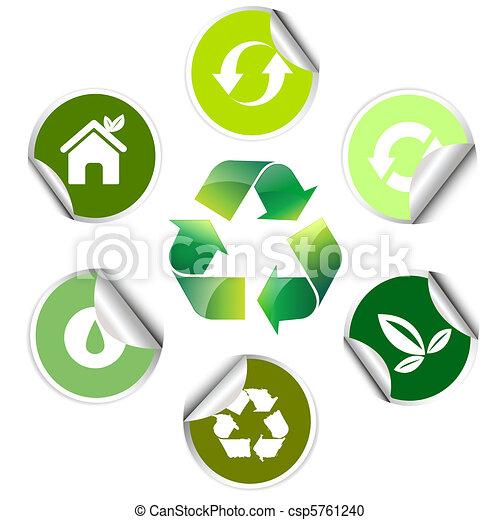 Pegatina de ecología, ícono - csp5761240