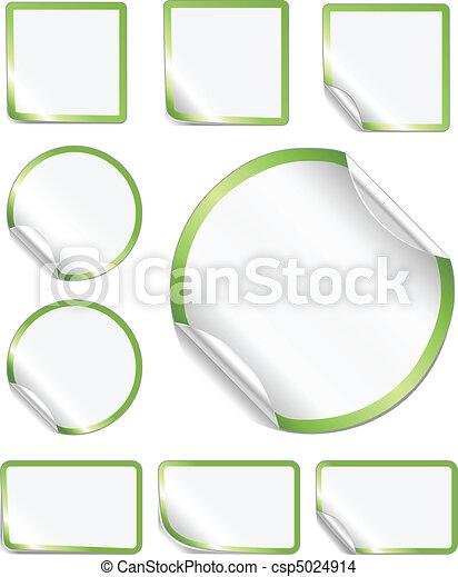 Pelando etiquetas verdes - csp5024914