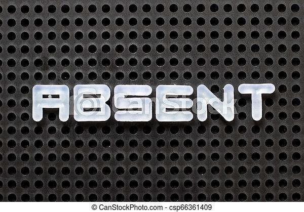 Tabla de color negro con letra blanca sin palabra - csp66361409