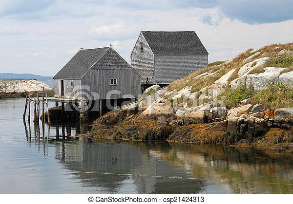 Peggy's Cove fishing shacks - csp21424313