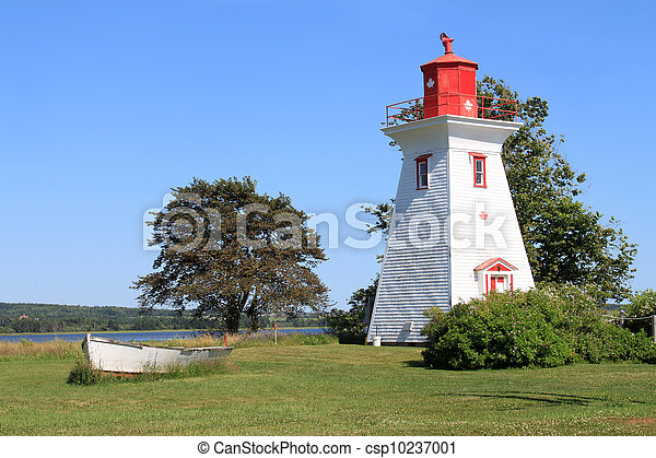 P.E.I. lighthouse and boat - csp10237001