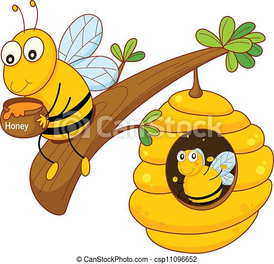 peigne miel, abeille - csp11096652