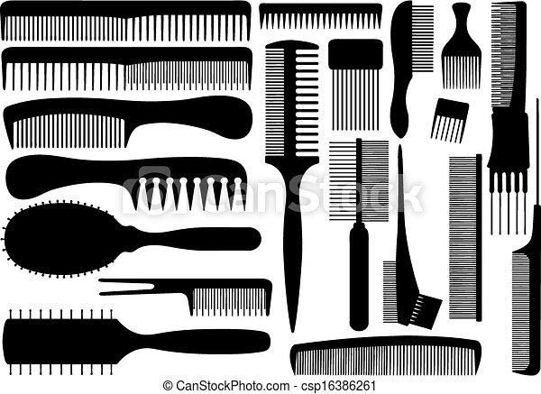 peignes, différent, ensemble - csp16386261