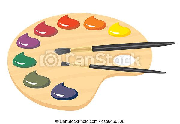Peindre Palette Clip Art Vectoriel - Rechercher Des Dessins Et Des