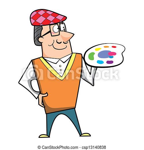 Peindre palette dessin anim artiste palette - Palette a dessin ...