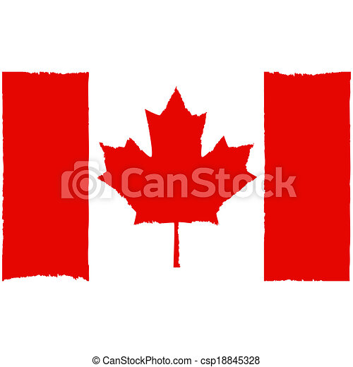 peint, drapeau, canadien - csp18845328
