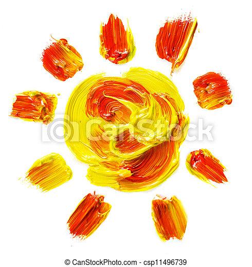 peint, soleil - csp11496739