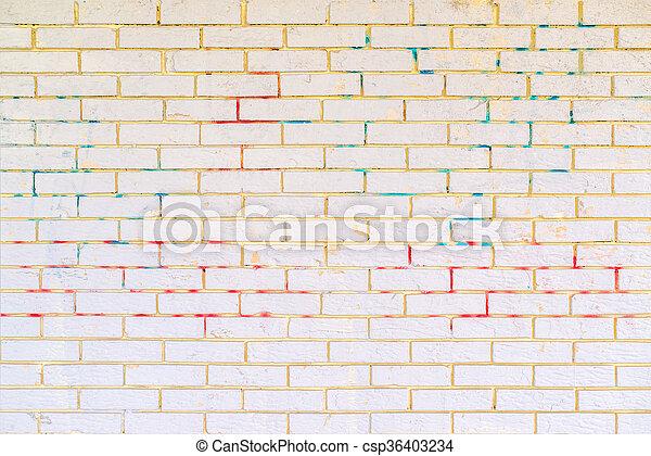 Peint, Surface, Mur, Brique Blanche, Maçonnerie