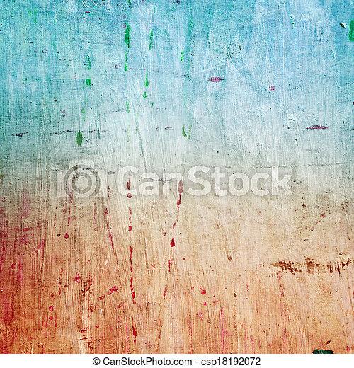 peint, toile, texture - csp18192072