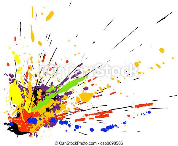 peinture, éclaboussure - csp0690586