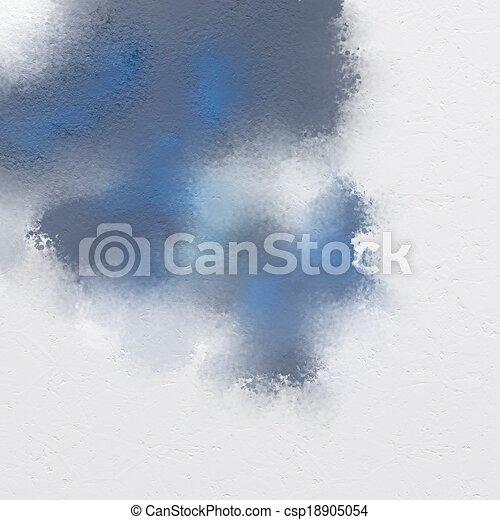 Peinture Bleue Mélange Gris Bleu Digitalement Peinture Peint