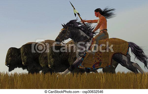 Peinture cheval indien sien tentative indien partir troupeau peinture am ricain - Dessin anime indien cheval ...
