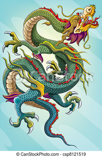 Peinture dragon chinois m lange chinois haut forme - Photo de dragon chinois ...