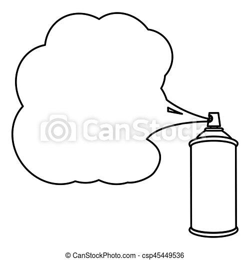 peinture, pulvérisation, silhouette, boîte, icône - csp45449536