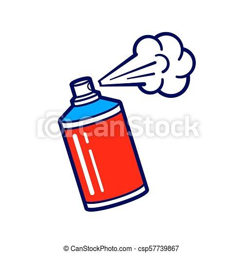 peinture, pulvérisation, vecteur, boîte, icône - csp57739867