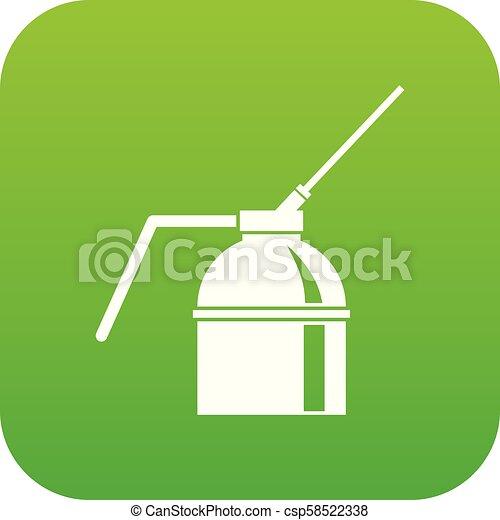 peinture, pulvérisation, vert, boîte, numérique, icône - csp58522338