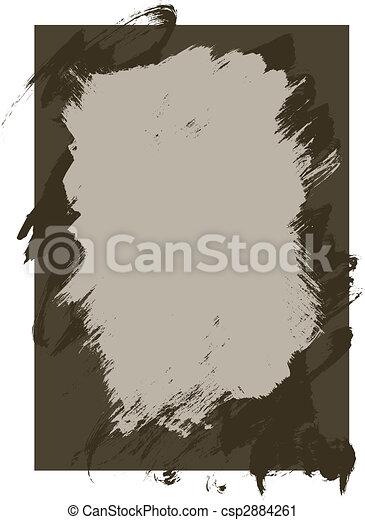 peinture, rugueux, fond, texture, encre - csp2884261