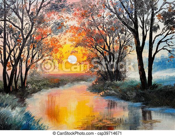 peinture sur toile huile