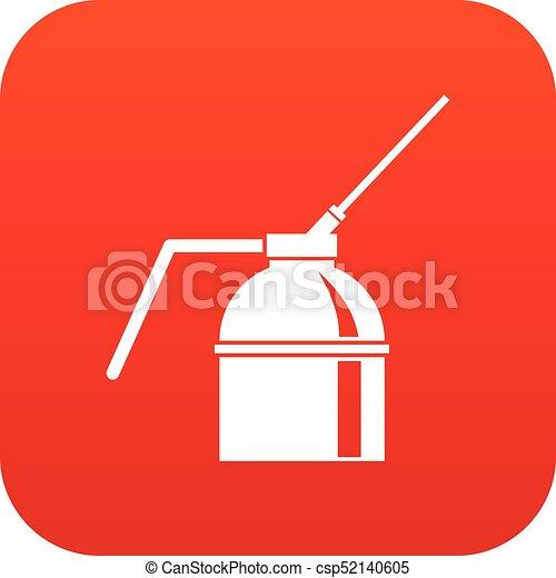 peinture, vaporisez boîte, numérique, rouges, icône - csp52140605