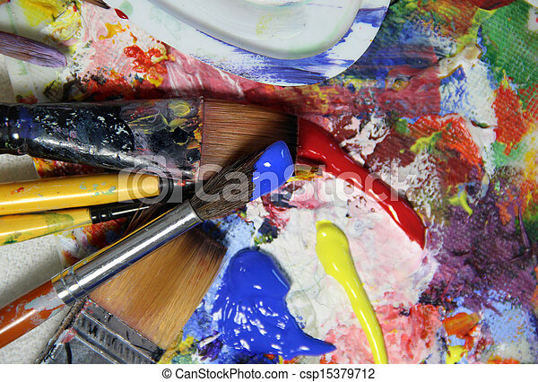 peintures art palette pinceaux pinceaux palette art lot peintures. Black Bedroom Furniture Sets. Home Design Ideas