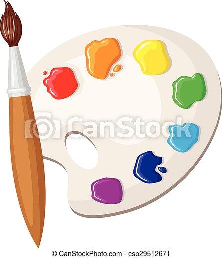 Peintures Palette Pinceau