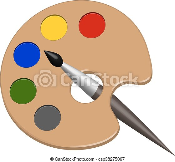 Peintures Palette Ve Brosse