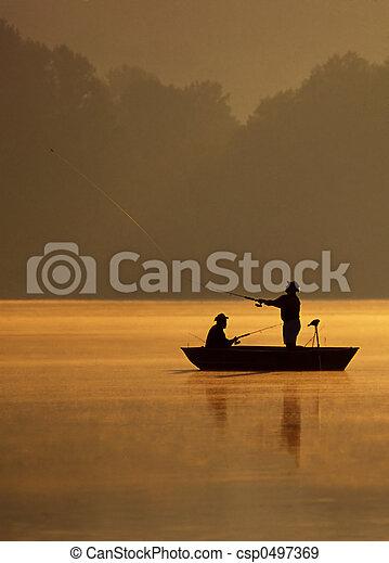 peixe, lançando - csp0497369