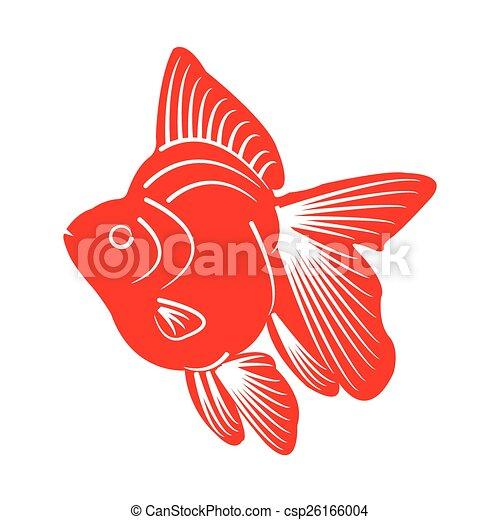 peixe, silueta - csp26166004