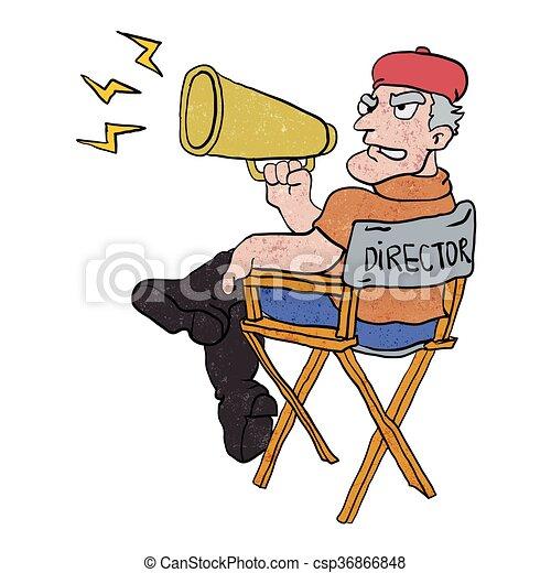 Director de cine. - csp36866848