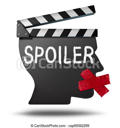 Alerta de spoiler de películas - csp69362299