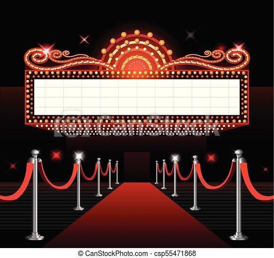 Película, señal, teatro, estreno. Entrada, teatro ...