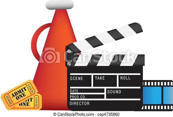 Cine y películas - csp4735860