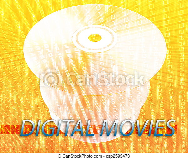 Películas digitales - csp2593473