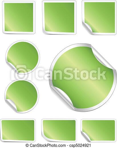 La frontera blanca de pelar pegatinas verdes - csp5024921
