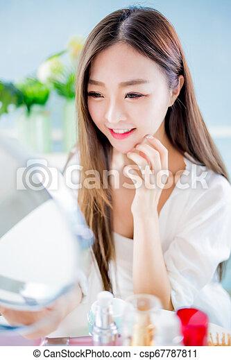 pele, mulher, conceito, cuidado beleza - csp67787811