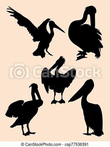 Pelican silhouettes 01. - csp77536391
