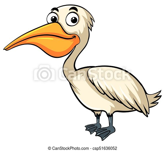 Pelican with happy face - csp51636052