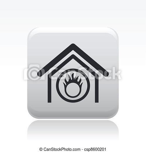 Ilustración de vectores de icono moderno representando una señal de peligro dentro - csp8600201