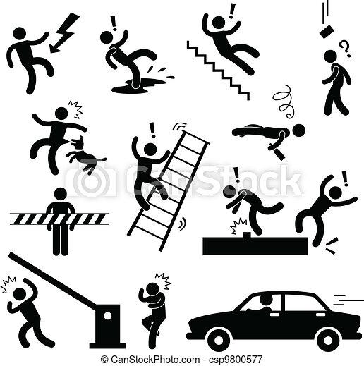 Señal de peligro de seguridad - csp9800577