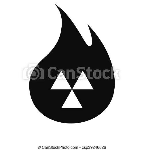 Señal de peligro radiactivo. Ícono Vector - csp39246826