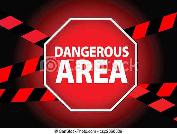 Área peligrosa - csp2868889