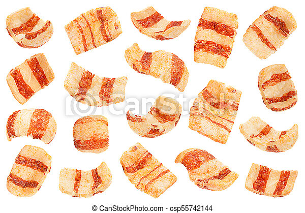 Pelleted salted snack bacon collection - csp55742144